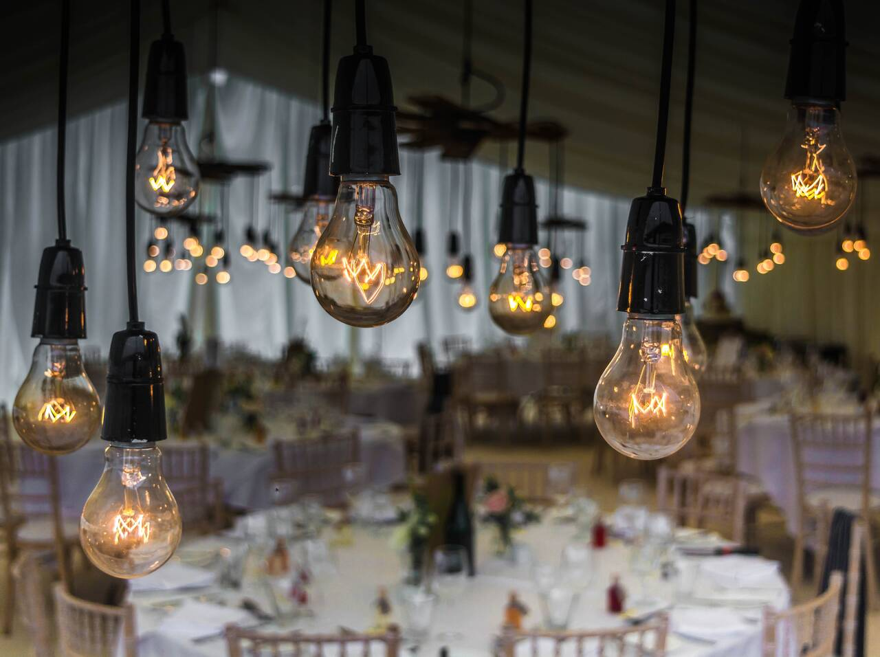 wedding, bulbs, lighting - Alf an der Mosel